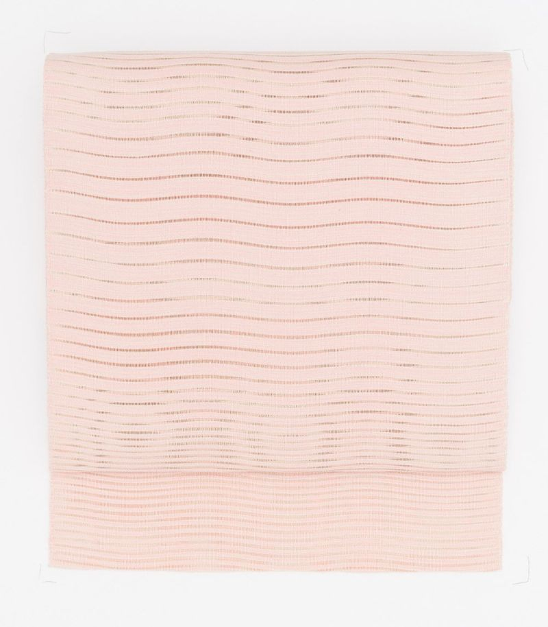 (新品)夏八寸帯/波筬ピンク